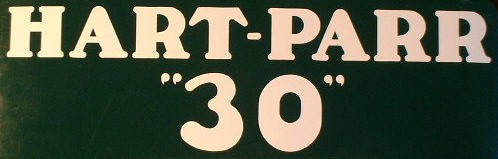 "Hart-Parr ""30"" decal"